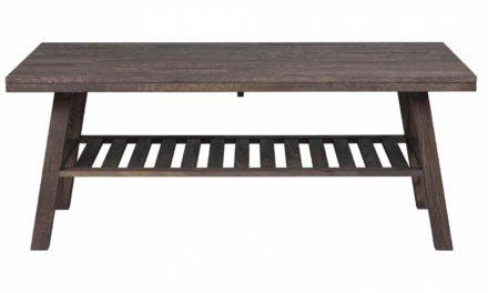 Brooklyn sofabord – røget eg m. 1 hylde (130×75)