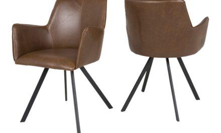 CANETT Amigo spisebordsstol m. armlæn – Brun