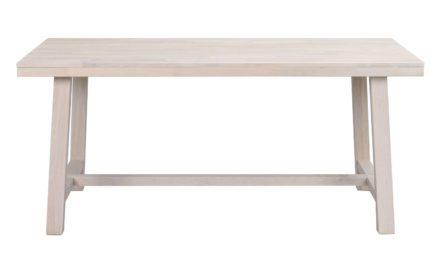 Brooklyn spisebord – hvidpigmenteret eg m. udtræk (170×95)