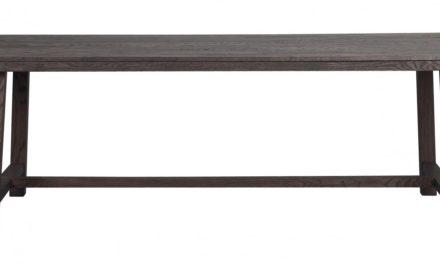 Brooklyn spisebord – røget eg m. udtræk (220×95)