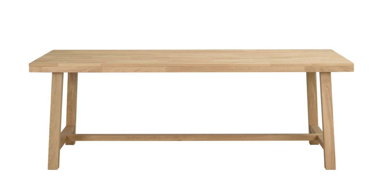 Brooklyn spisebord – børstet eg m. udtræk (220×95)