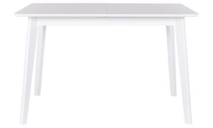 CANETT Tilde spisebord – hvid, incl. tillægsplade