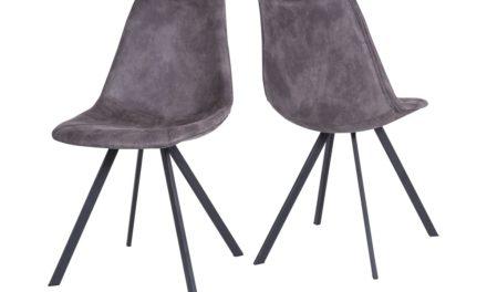 CANETT Zobel spisebordsstol – Mørkegrå