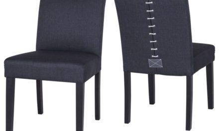 CANETT Matti spisebordsstol – Sort/Grå