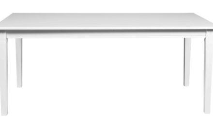 Wittskar spisebord – Hvidt træ, 180×90