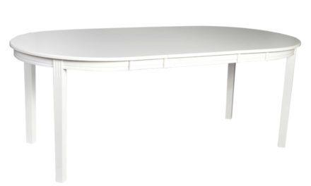 Wittskar spisebord – Hvidt træ, ovalt