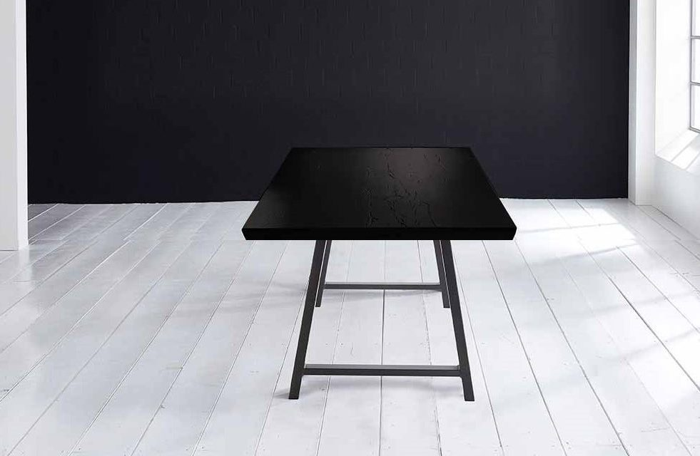 Concept 4 You Plankebord – Schweizerkant med Halo Ben, m. udtræk 6 cm 180 x 110 cm 07 = mocca black