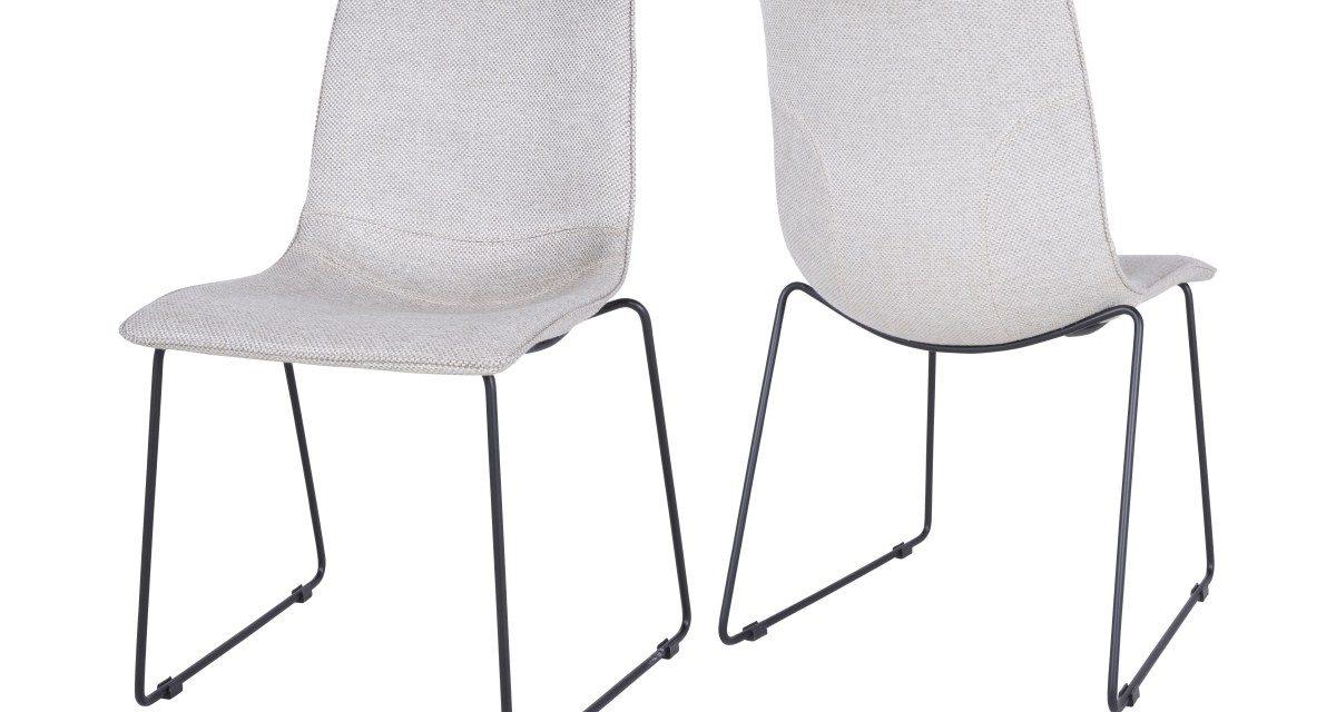 CANETT Delta spisebordsstol – Lysegrå