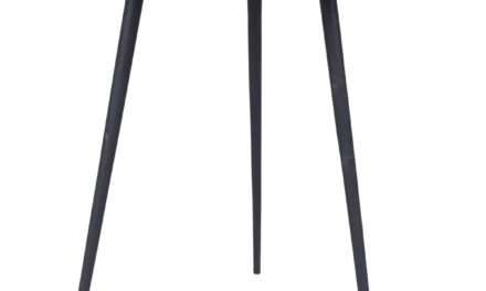 CANETT Needle sidebord – Sort Ø44 cm