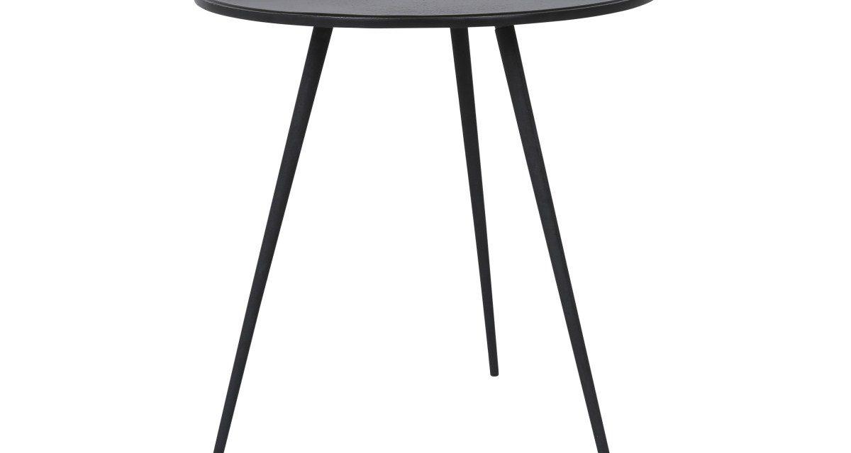 CANETT Needle sidebord – Sort Ø50 cm
