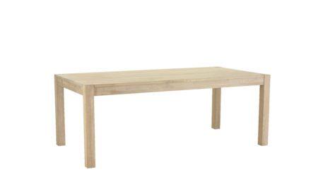 Texas spisebord 200 cm i sæbebehandlet eg