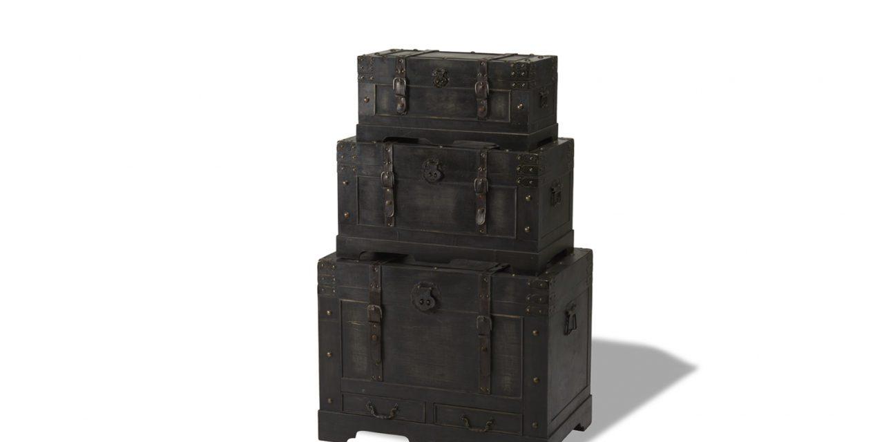 Kistesæt Sort Lige Låg