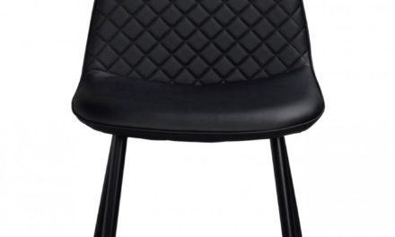 Aston spisebordsstol – sort PU læder