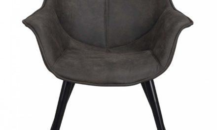 Echo stol – Mørkegråt stof, metalben