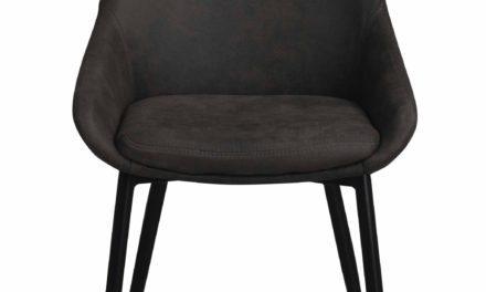 Sierra spisebordsstol – Mørkegråt stof, m. metal stel