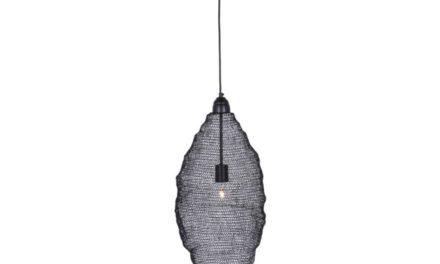 CANETT Oscar hængelampe – sort jern, håndlavet