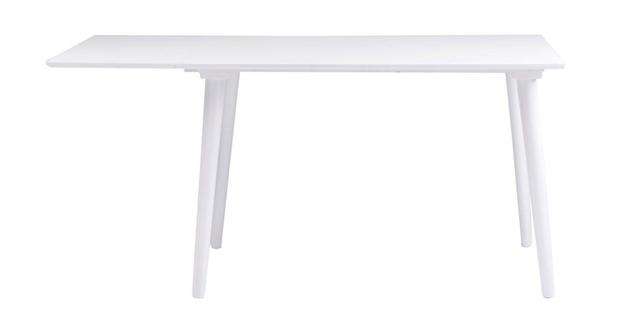 Lotta spisebord – hvid m. klap (80×120+40)