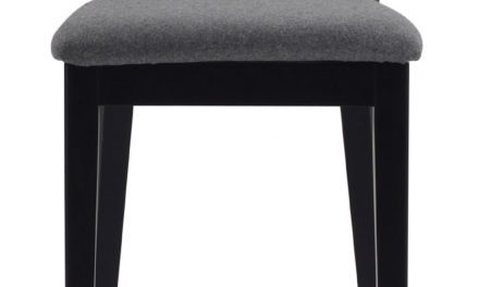 Dylan barstol – sort eg, grå stofhynde
