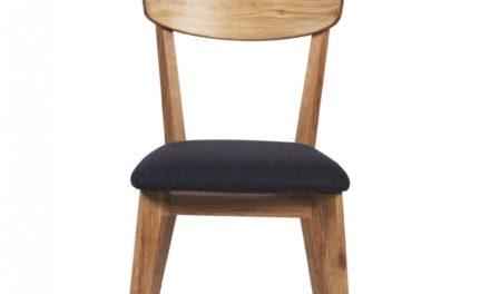 Kelly spisebordsstol – eg/mørkegråt stof