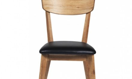 Kelly spisebordsstol – eg/sort kunstlæder
