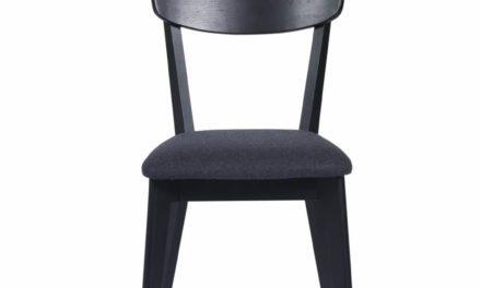 Kelly spisebordsstol – sort eg/mørkegråt stof