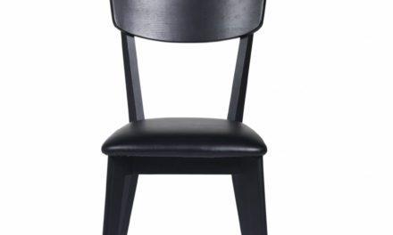 Kelly spisebordsstol – sort eg/sort kunstlæder