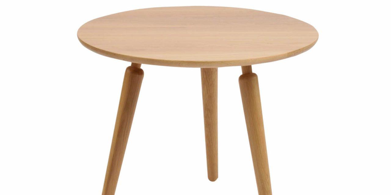 Cappuccino sofabord – massiv eg, rund (Ø60)