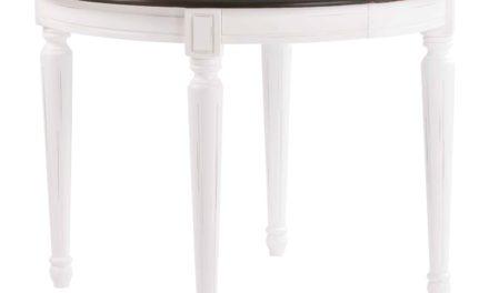 Viktoria spisebord – Grå bordplade, rundt (Ø:105)