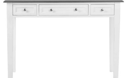 Viktoria konsolbord – Hvidt og gråt træ, m. 3 skuffer
