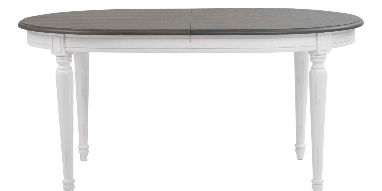 Viktoria spisebord – Grå bordplade, ovalt 160×105