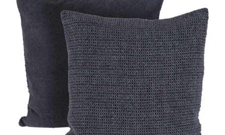 CANETT Chandra pude – mørkegrå stof, håndlavet