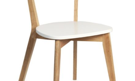 Arild spisebordsstol – hvid/eg