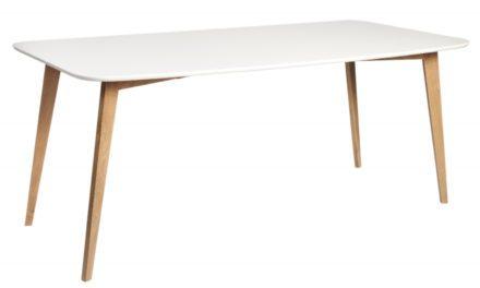 Arild spisebord – mat hvid/lakeret eg (180×90)