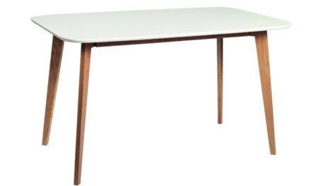 Arild spisebord – mat hvid/lakeret eg (130×80)
