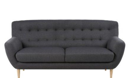 Oswald mørkegrå 3 personers sofa