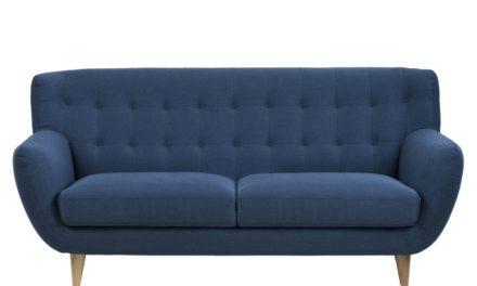 Oswald mørkeblå 3 personers sofa