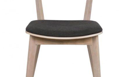 Cato spisebordsstol – hvidpigmenteret eg og mørkegråt stof