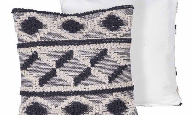CANETT Yasmin pude – grå/off-white stof