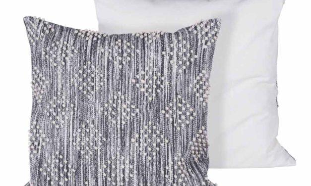 CANETT Yasmin pude – grå/hvid stof