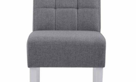 Leila spisebordsstol – grå/hvid