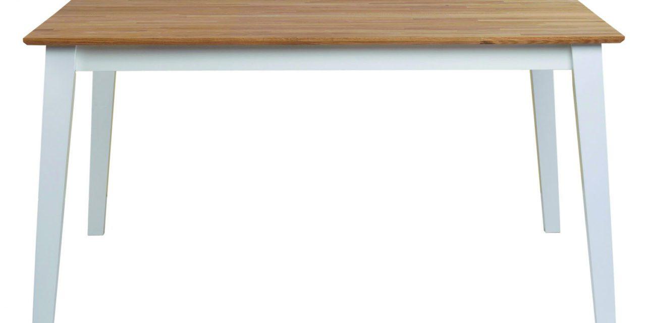 Filippa spisebord – Hvid/natur eg, 145×145/190×145