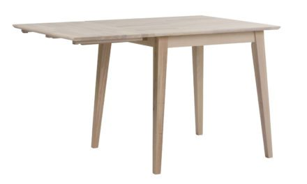 Filippa spisebord – hvidolieret eg m. klap (80×80+45)