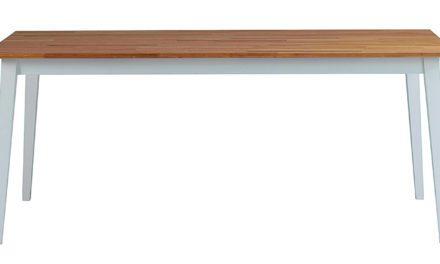 Filippa spisebord – Hvid/natur eg, 180×90
