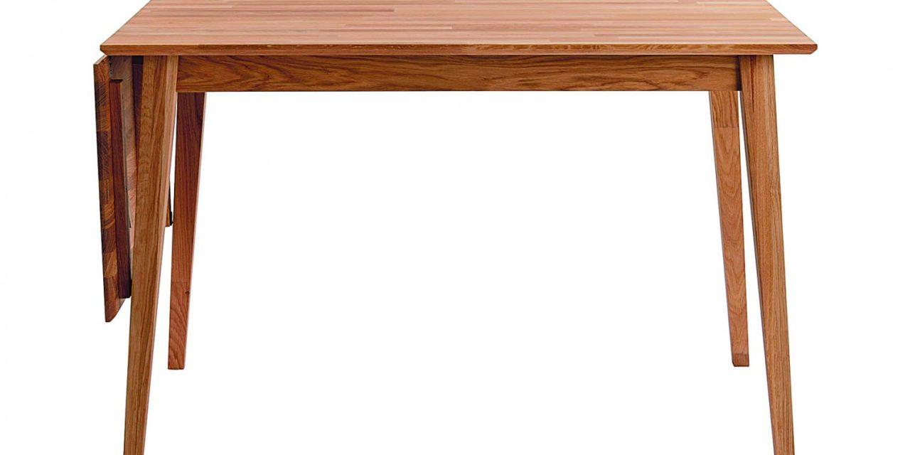 Filippa spisebord – olieret eg m. klap (80×120+45)