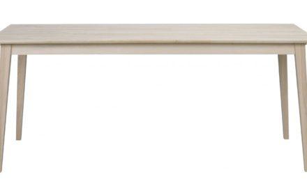 Filippa spisebord – hvidolieret eg, m. udtræk (180×90)
