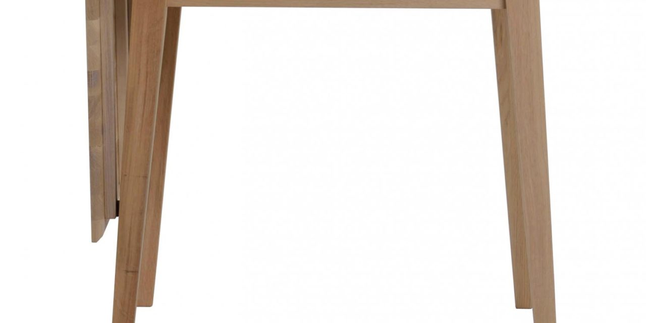 Filippa spisebord – olieret eg m. klap (80×80+45)