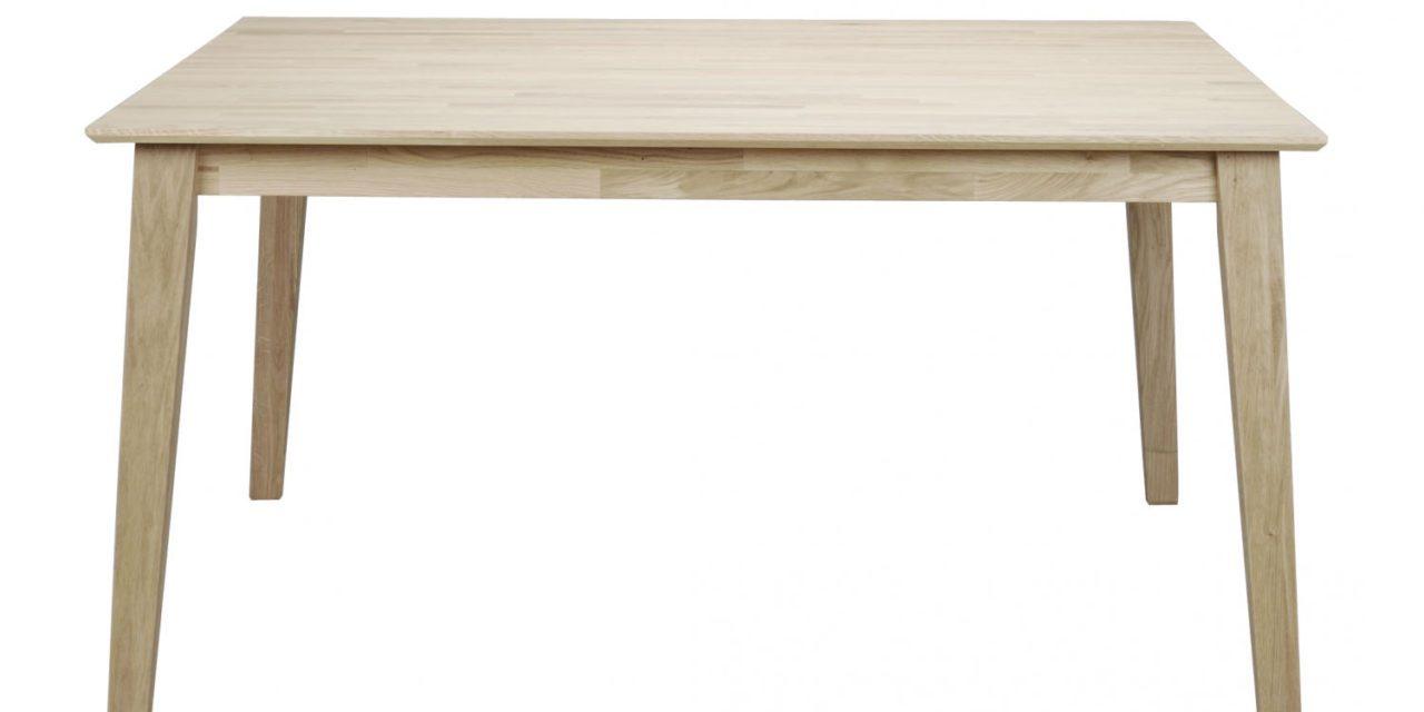 Filippa spisebord – Hvidolieret eg, 145×145/190×145