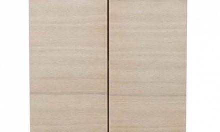 Filippa sengebord – Hvidpigmenteret eg, 2 låger
