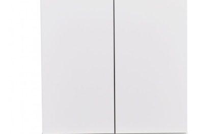 Filippa sengebord – Hvid/natur eg, 2 låger