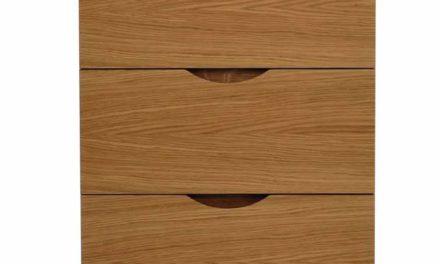 Filippa kommode – Lakeret eg, 5 skuffer